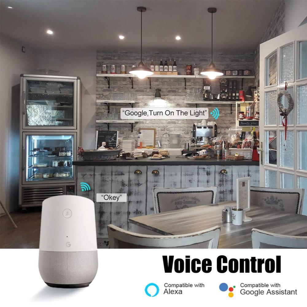 E27 Smart Wifi LED Bulb Lights Energy Saving coolr changing Tuya Smart life remote conrol voice contolr Alexa Google Home 4 pcs in LED Bulbs Tubes from Lights Lighting