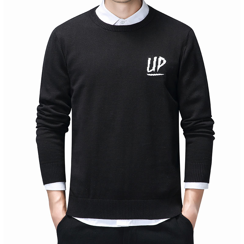 Varsanol Cotton Pullover Sweater Men Warm Winter Mens Sweaters Casual Embroidery Letter Pull Homme Clothing Long Sleeve Coats