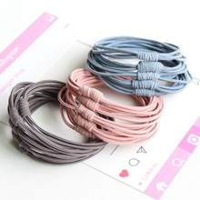 1PCS/Lot Women Basic Color Ball Elastic Multi-layer Hair Bands Ponytail Holder Lady Rubber Bands Tie Gum For Hair Accessories(China)