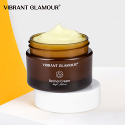 VIBRANT GLAMOUR Retinol Face Cream Firming Lifting Anti-Aging Remove Wrinkle Whitening Brightening Moisturizing Facial Skin Care