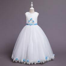 2020 Новое Детское подиумное платье свадебное принцессы с цветочным