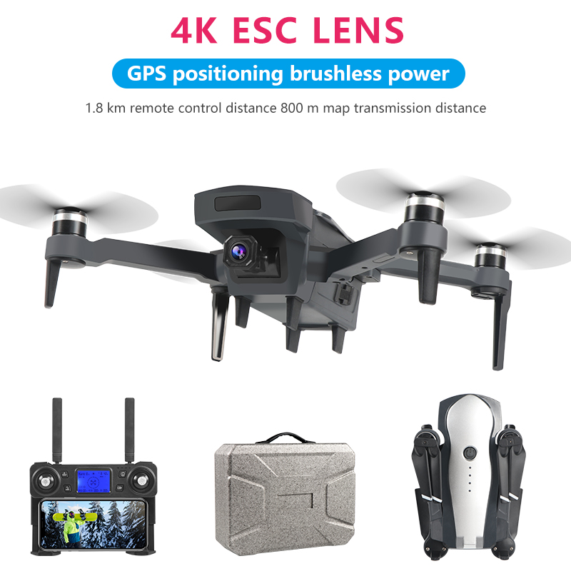 K20 5G GPS FPV WiFi <font><b>Drone</b></font> <font><b>Brushless</b></font> Motor Helicopter 4K HD Dual Camera Optical Flow Positioning Remote Control Quadcopter Toy image