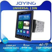 Универсальный автомобильный магнитола на Android, 9,7 дюйма, 4G, с камерой заднего вида