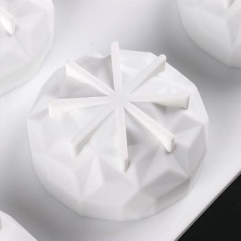 DIY silikonowe gliny aromaterapia tabletki formy mydło formy silikonowe formy ozdoby wosk formy mydło formy akcesoria rzemieślnicze mydło formy tanie i dobre opinie CN (pochodzenie) Silicone Mold Soap Mold Other 3D Mold Aromatherapy Tablets Molds White About 29 6x17cm 11 65x6 69inch