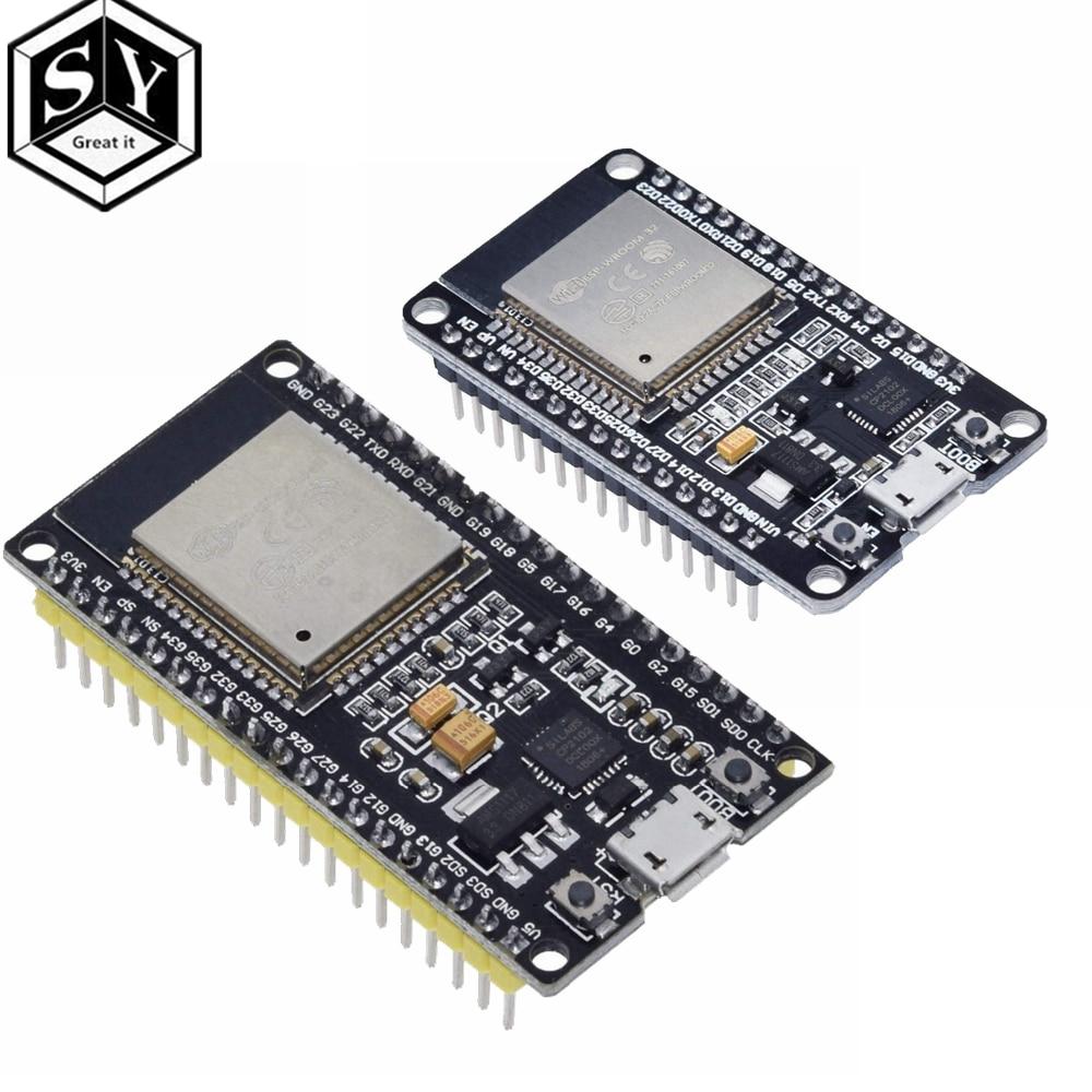 ESP32 ESP 32 ESP32S ESP 32S CP2102 sans fil WiFi Bluetooth carte de développement Micro USB double noyau amplificateur de puissance Module de filtre led digital voltmeter voltmeter ledled t5 - AliExpress