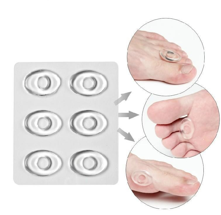 6pcs/sets Silicone Gel Shoe Sticker Pad Shoes Inserts Cushion Accessories Grinding Foot Sticker Anti-wear Feet High Heels Paste