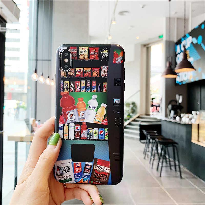 Для iPhone XR чехол торговый автомат крышка для iPhone 7 8 Plus XS Max модные Coque роскошный силиконовый, для питья для iPhone 6S чехол мягкий