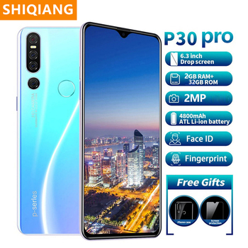 цена на Global Version SOYES P30 Pro 2GB 32GB ROM MobilePhone Hexa core Android9.1 4800mAh Cellphone 6.3inch Waterdrop Screen Smartphone