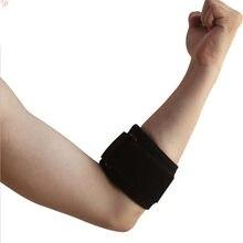 1 pçs adjustbale cotovelo apoio guarda almofadas para tênis golfe cinta cotovelo dor lateral preto protetor de cotovelo