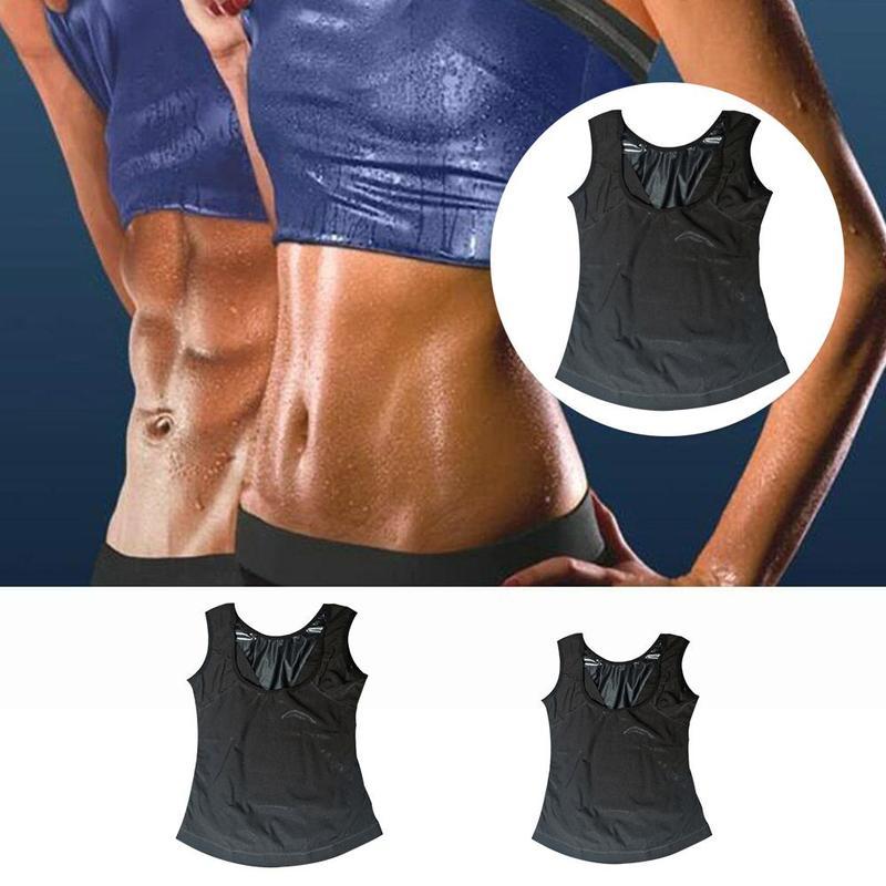 1pc Multi-size Optional Sweat Sauna Vest Body Shapers Trainer Slimming Vest Shapewear  Fat Burning Abdomen Fitness Sportswear