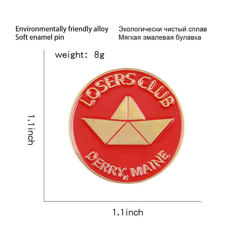 Schwarz Rot Runde Emaille Pin Nach Verlierer Club Broschen für Hemd Revers Tasche Boot Abzeichen Punk Vintage-Schmuck Geschenk für freunde