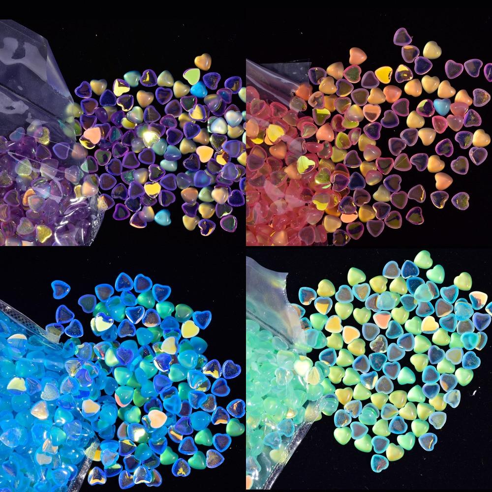 Купить 100 шт/пакет 3 6 мм кристалл для дизайна ногтей полимер 3d сердце/конский