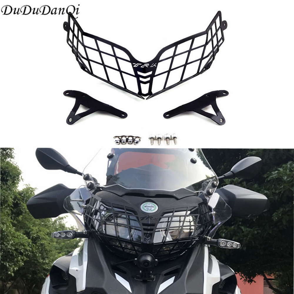 For <font><b>Benelli</b></font> TRK502 <font><b>TRK</b></font> 502X Headlight Guard Protector Grille Covers for <font><b>Benelli</b></font> <font><b>TRK</b></font> <font><b>502</b></font> Moto Parts Motorcycle <font><b>Accessories</b></font> image