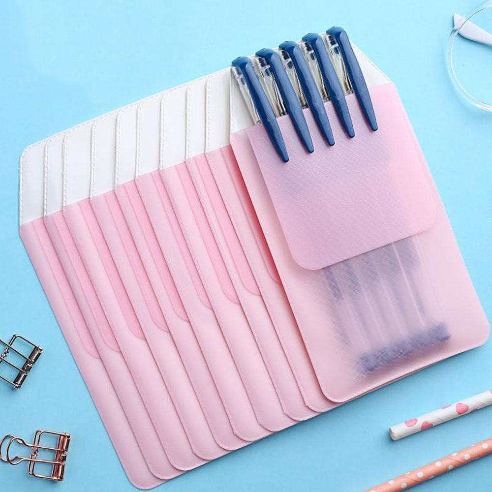 1pcs New Colorful PVC Pocket Protector Leak-Proof Pen Pouch Doctors Nurses Bag For Pen Leaks Office Hospital Supplies