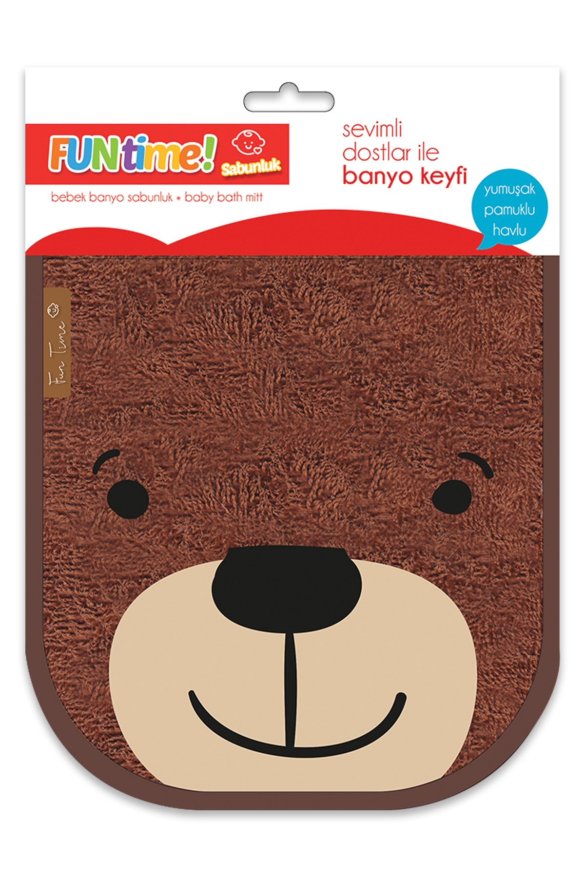 Fun Time % 100 Cotton Cute Bear For Babies And Kids