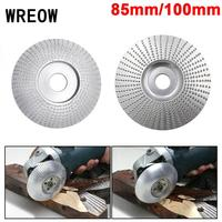 85/100mm Tungsten Carbide Woodworking Wood Angle grinding wheel Sanding disc Carving Abrasive Rotary Shaper Grinding grinderTool