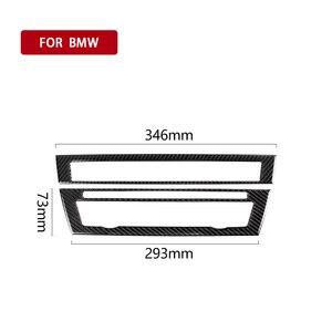 Image 2 - עבור BMW F10 5 סדרת 2011 2017 פנים סיבי פחמן רכב CD בקרת פנל פנים מדבקת AC פנל מסגרת אביזרי לשקע אוויר