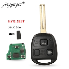 jingyuqin Remote Key 3 Buttons 4D68 Chip 314.4MHz FOB for Lexus RX330 RX350 RX400h HYQ12BBT 89070 48821