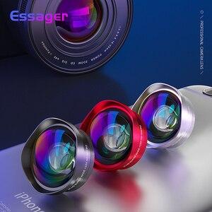 Image 1 - Essager 4Kมุมกว้างเลนส์มาโครสำหรับiPhone Huawei 0.6X + 15Xโทรศัพท์กล้องเลนส์เลนส์สำหรับสมาร์ทโฟนโทรศัพท์มือถือเลนส์
