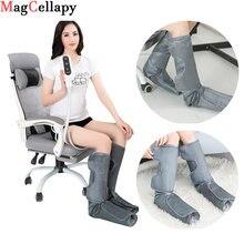 Компрессионный массажер для ног с функцией теплого нагрева способствует