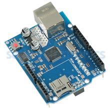 Uno イーサネットシールド Wiznet W5100 R3 UNO メガ 2560 1280 328 uno R3 W5100 · モジュールブリックセンサ開発ボードマイクロ SD カード 1
