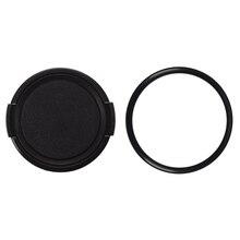 1 шт. пластиковая боковая защелка для камеры на передней крышке объектива Защитная крышка черная 49 мм и 1 шт. от 48 мм до 49 мм фильтр для объектива камеры 48 мм-49