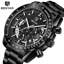 2020 BENYAR Top Brand Luxury Men Sports Watch Male Casual Full steel Date Wristwatches Mens Quartz watches Relogio Masculino