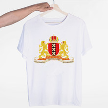 Men's Amsterdam Netherlands T-shirt O-Neck Short Sleeves Summer Casual Fashion Unisex Men and Women Tshirt