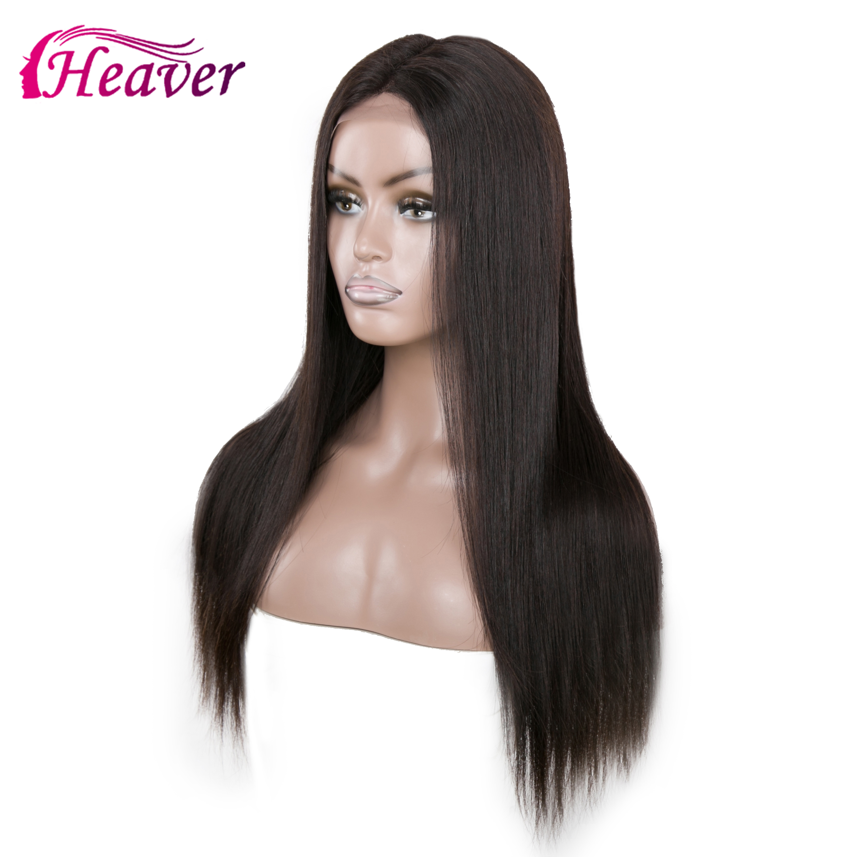 Haever 13X4 Lace Closure Wig Pre-Plucked 180% Lace New Hair Human Hair Wigs Virgin Brazilian Straight Silk For Black Women