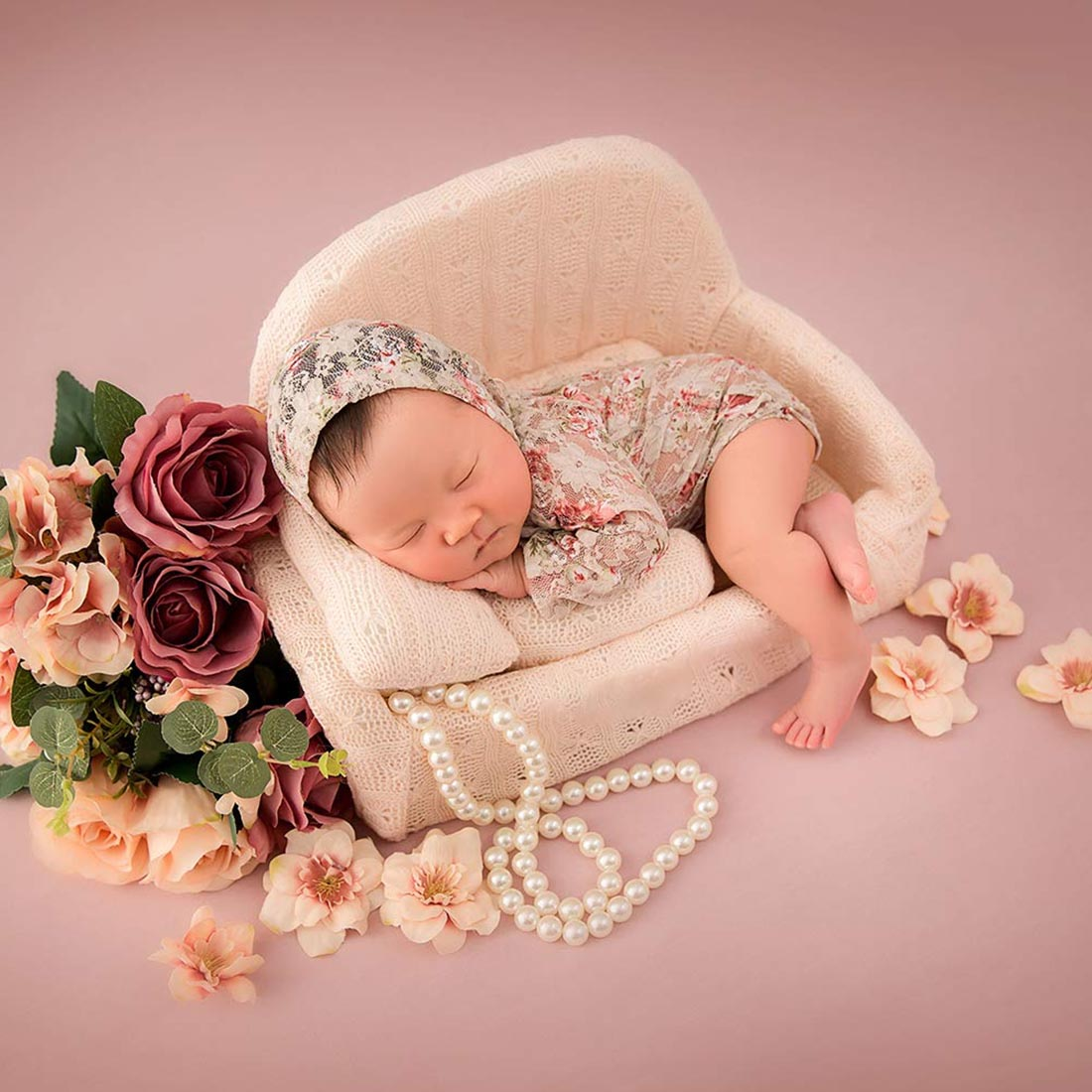 Decoration Baby Photography Accessories Newborn Photography Props Mini Posing Sofa Pillow Set Chair Infant Studio Shooting Props