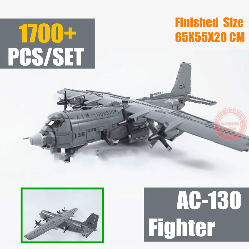 Oyuncaklar ve Hobi Ürünleri'ten Bloklar'de MOC AC 130 Savaş Avcı Hava Kuvvetleri Uçak Fit Askeri Teknik SWAT Ordu asker Rakamlar yapı taşı tuğla Oyuncaklar Modeli çocuk Hediye'da  Grup 1