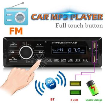 12V Dual USB BT 2.4 LCD Bluetooth MP3 Player Bass Stereo FM Radio Car Charger EQ Treble Bass Front Back Left and Right image