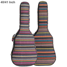 40 / 41 Inch Guitar Bag Folk Style Knitted Acoustic Guitar Case Gig Bag Double Straps Pad Cotton Thickening Soft Cover