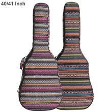 40 / 41 inç gitar çantası halk tarzı örme akustik gitar kılıfı Gig Bag çift sapanlar Pad pamuk kalınlaşma yumuşak kapak