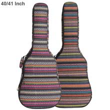 Bolsa para guitarra acústica de punto, bolsa para guitarra acústica de 40 / 41 pulgadas, doble correa, almohadilla de algodón, cubierta suave y gruesa