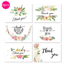 6pcs 3D Festival Greeting Card Christmas Business Creative Blessing Greeting Card Birthday Wedding Thank You 5X7 Inch Cards