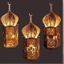 AISONG – décoration artificielle en bois, embellissement du Ramadan, Aid Moubarak, Eid al-fitr Mubarak, pour la maison, décoration de salle musulmane, bricolage