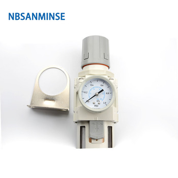 NBSANMINSE Air Preparation Unit AW4000-04 C G1/2 One Unit Air Source Treatment Unit Filter With regulator water drain фото