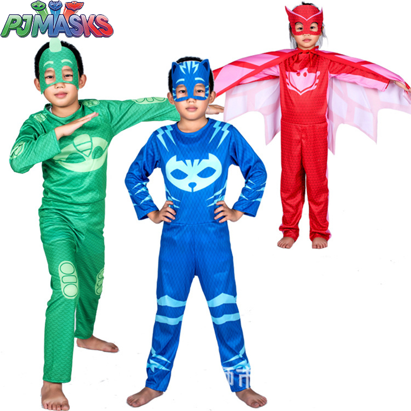 PJ Masks Birthday Patry Cos Play Costume Christmas Halloween Clothes Pj Mask Catboy Gekko Owlette Children Toy Sports Gift