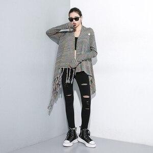 Image 3 - [EAM] גבוהה מותן שחור Slim מכנסיים חדש Loose Fit מכנסי עיפרון נשים אופנה גאות כל התאמה אביב סתיו 2020 1A698