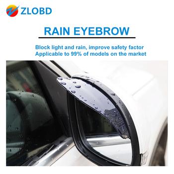2 sztuk samochodów deszcz brwi akcesoria dla samochodów podgląd widoku z tyłu samochodu boczna osłona przeciwdeszczowa śnieg straż przyciemniana osłona przeciwsłoneczna Protector tanie i dobre opinie