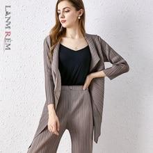 Jacket LANMREM Spring Pleated Gray Long-Sleeve Temperament Lapel Female 2E1598 And Autumn