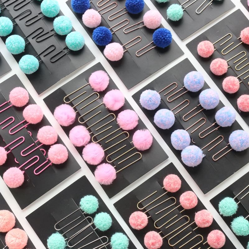 Domikee Original Creative Felt Metal Colored Index Paper Clips Bookmarks Set Cute Candy Office School Memo Pad Stationery 8pcs