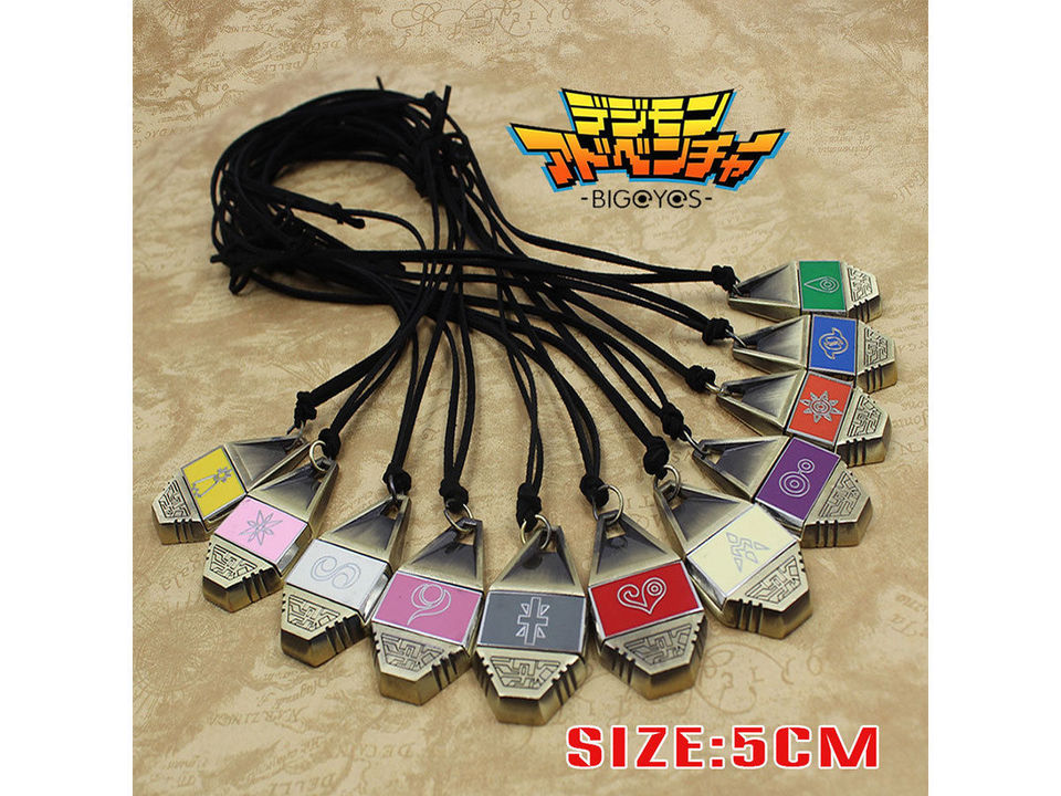 Digimon Adventure Digital Monster Courage Friendship Love Hope Evolution Badge Magnetic Pendant Necklace Rope Collection Gift Aliexpress