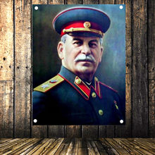 Sovjet leider Vladimir Stalin Portret Poster Vintage Vlag Banner Tapestry Sticker Communistische Cocialism Bar Cafe Wall Decor Gift(China)