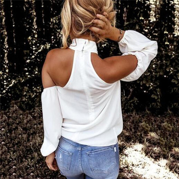 Off shoulder white blouse shirt Women bodycon blouse elegant summer sexy shirt 2021 female blusas tops & tees 2