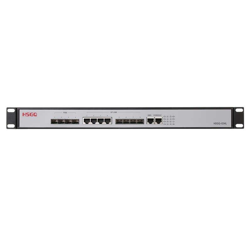4 porta PON mini ftth fibra ottica 4 porta SFP PX20 + PX20 + + PX20 + + + 4 porta pon 4 SFP slot di epon OLT 10/100/1000Mauto-negotiable