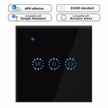 eWeLink WiFi Curtain Blind Switch for Roller Shutter Electric Motor Google Home Alexa Echo Voice Control DIY Smart Home EU/UK