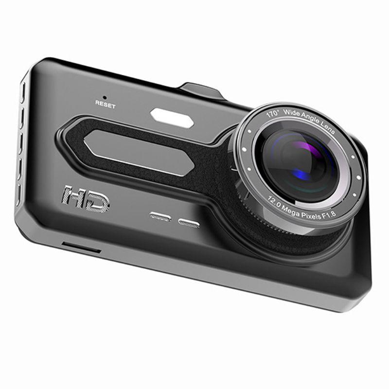 "Dual Lens Full HD 1080P 4"" IPS Car DVR Vehicle Camera Video Recorder G-sensor Parking Mode WDR Car Accessories"