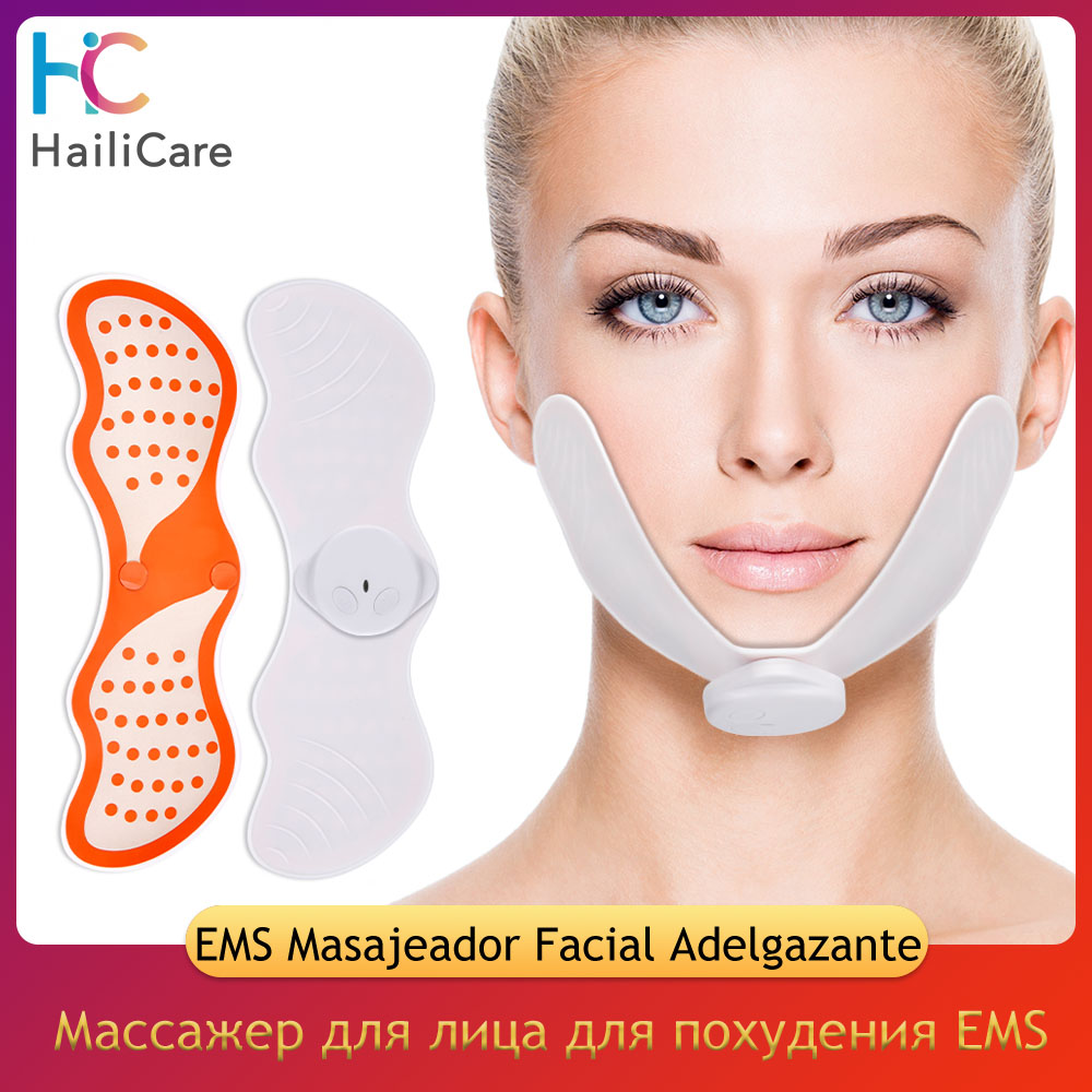 EMS Gesicht Hebe Maschine Gesichts Muscle Stimulator V Gesicht Abnehmen Exerciser EMS Massager Für Gesicht Mit Gel Pads Haut Lift werkzeuge